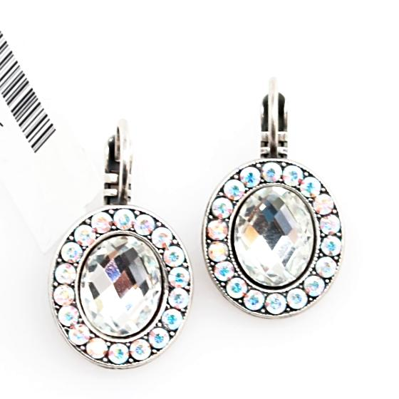 On a Clear Day Oval Cushion Cut Crystal Earrings