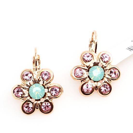 Flower Power Collection Daisy Earrings in Rose Gold