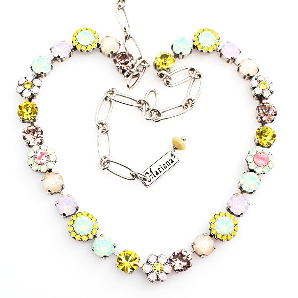 Lantana Collection Crystal Flower Necklace