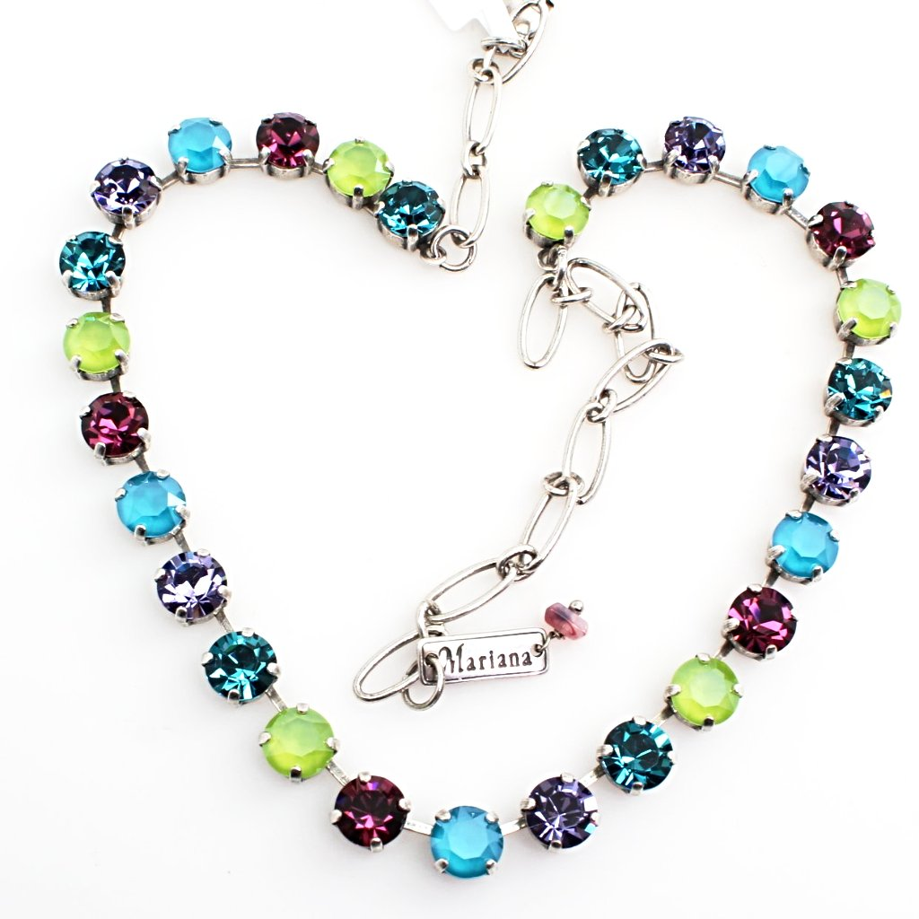 Peacock Collection Medium Crystal Necklace