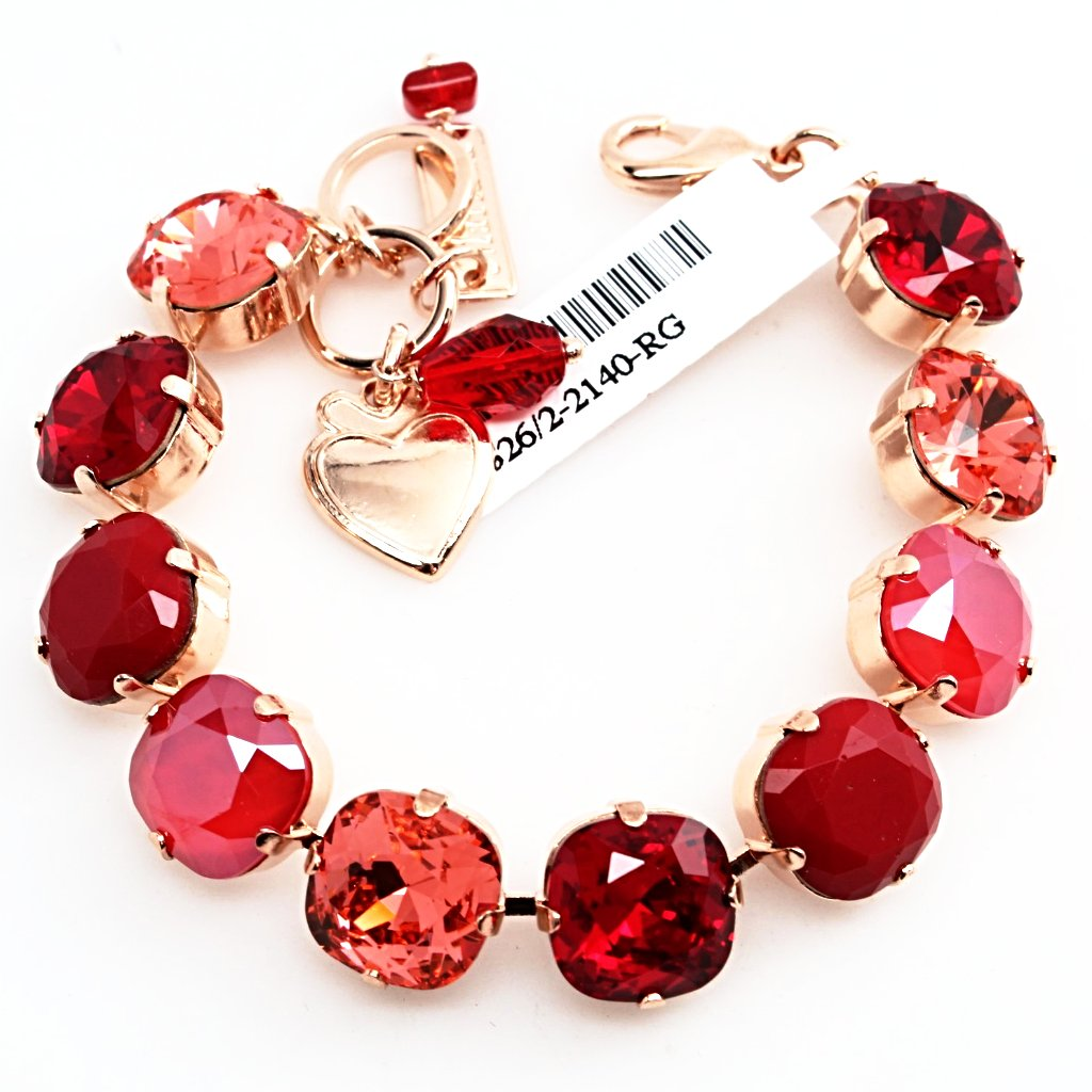 Firefly 12MM Square Crystal Bracelet in Rose Gold