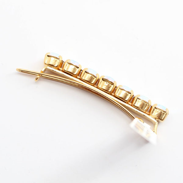 Crystal AB Barrette in Yellow Gold
