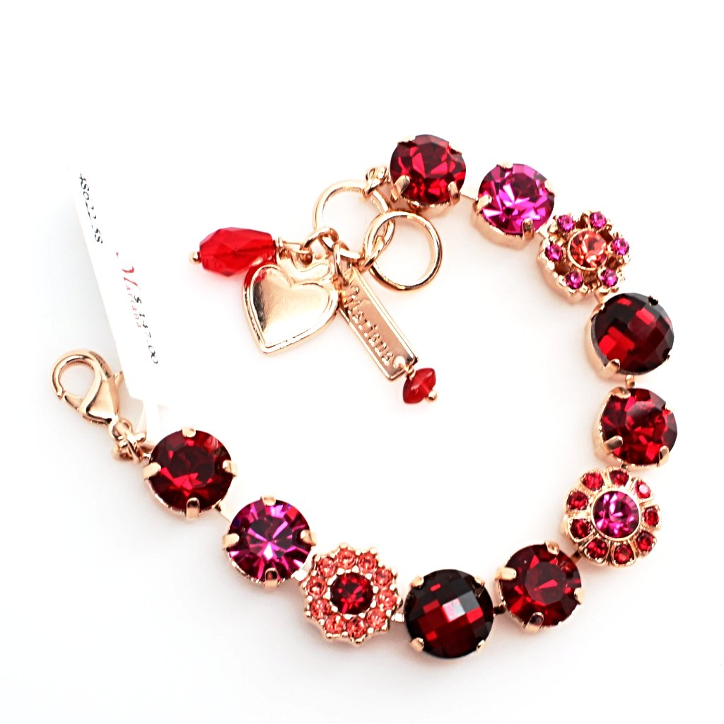 Firefly Collection Large Crystal Bracelet in Rose Gold