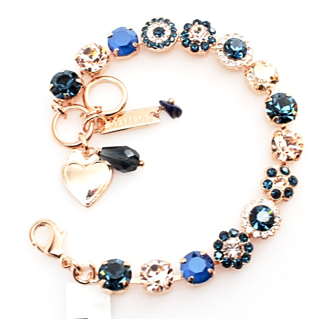 Ocean Collection Medium Flower Bracelet in Rose Gold