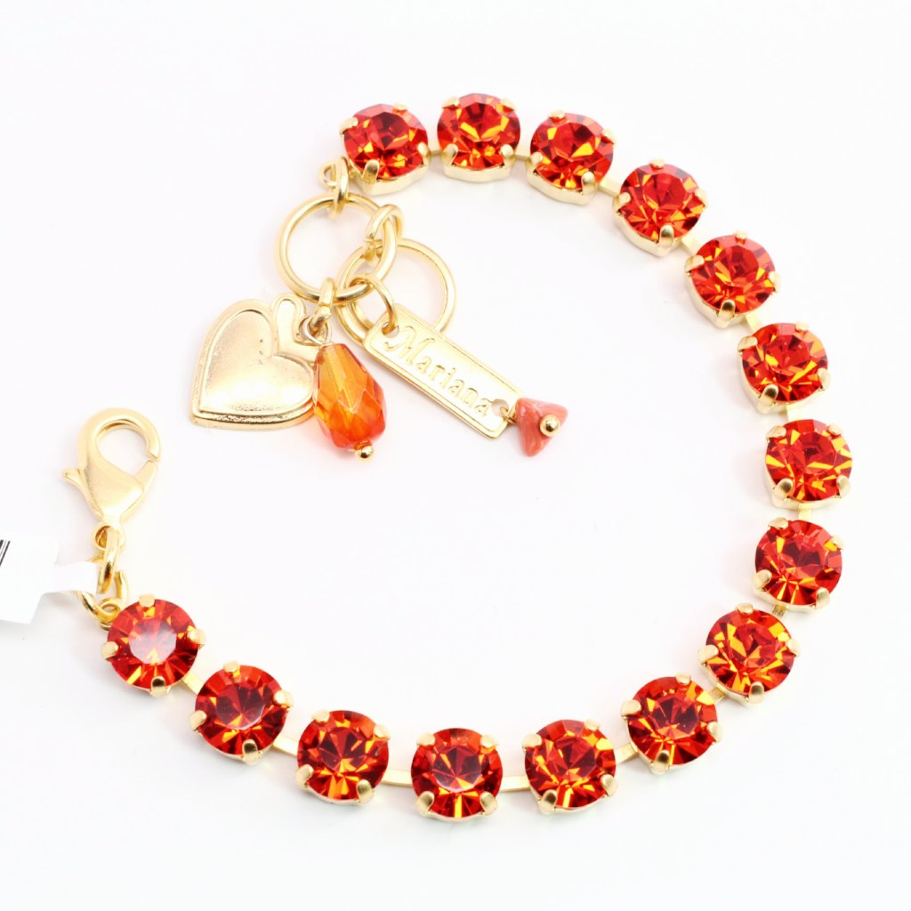 Hyacinth Medium Crystal Bracelet in Yellow Gold
