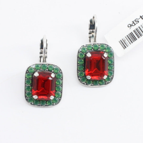 Holiday Collection Rectangular Crystal Earrings
