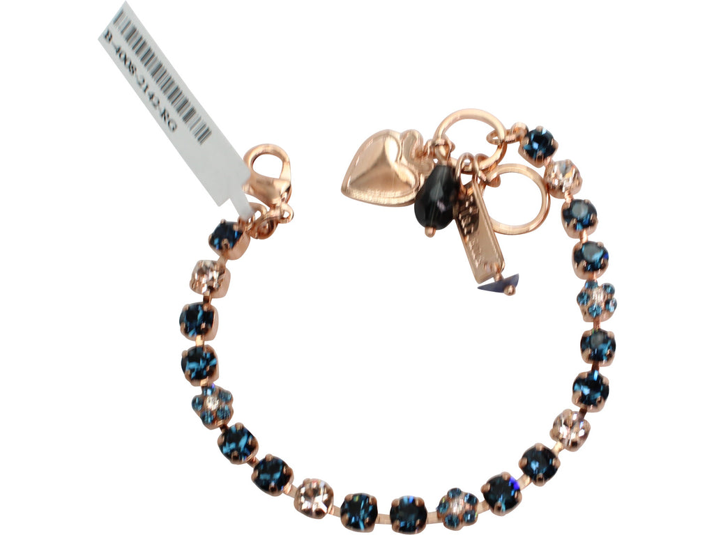 Ocean Collection Petite Crystal Flower Bracelet in Rose Gold