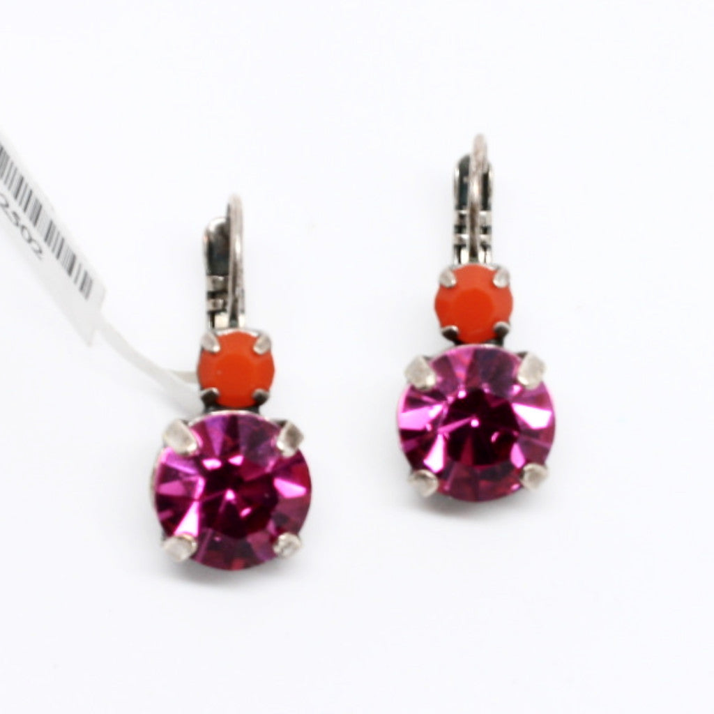 Angelina Large Double Crystal Earrings