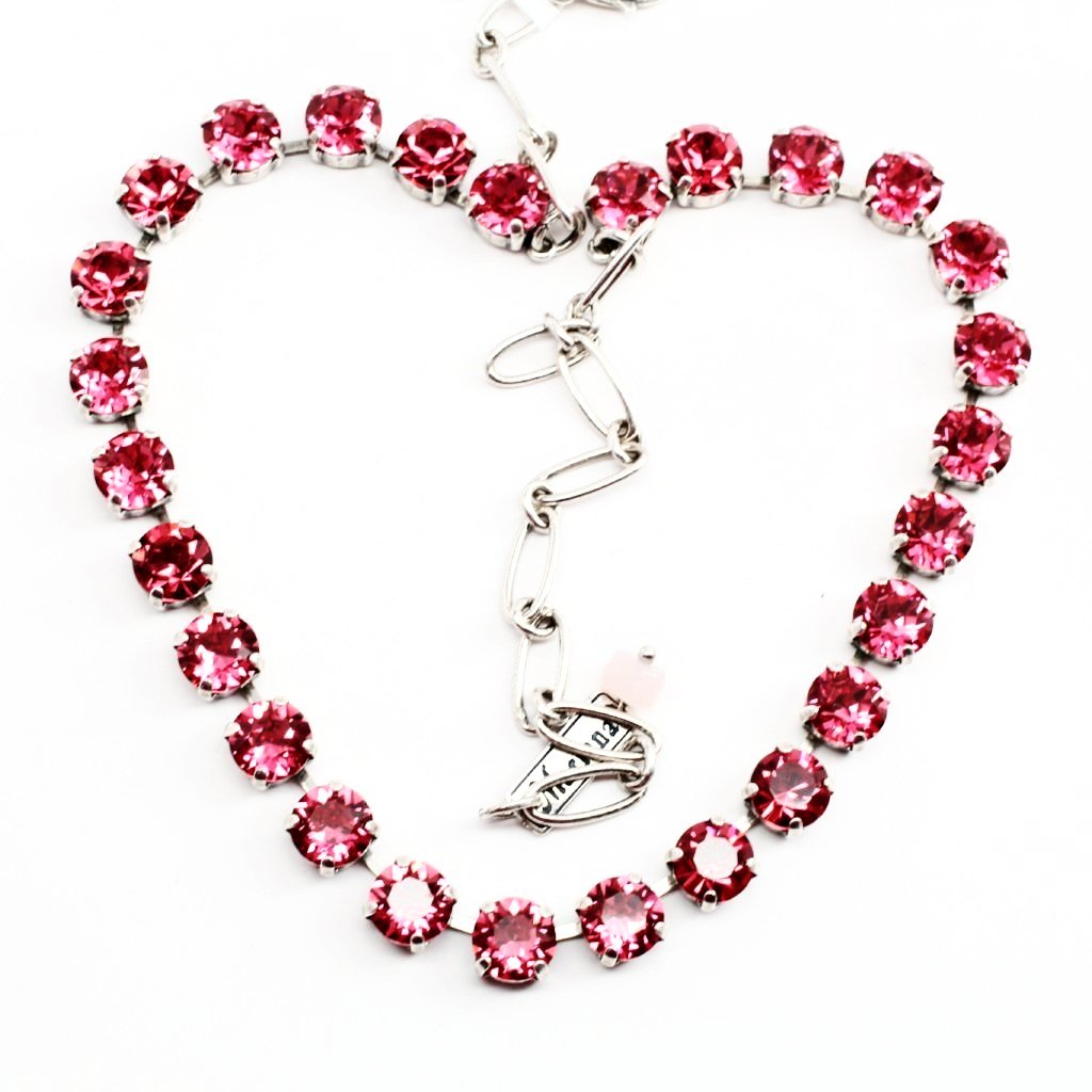 Indian Pink Medium Crystal Necklace