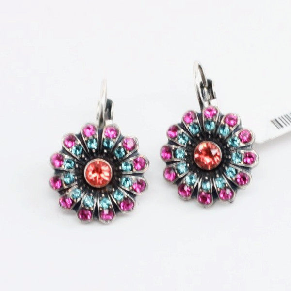 Sorbet Collection Crystal Flower Earrings