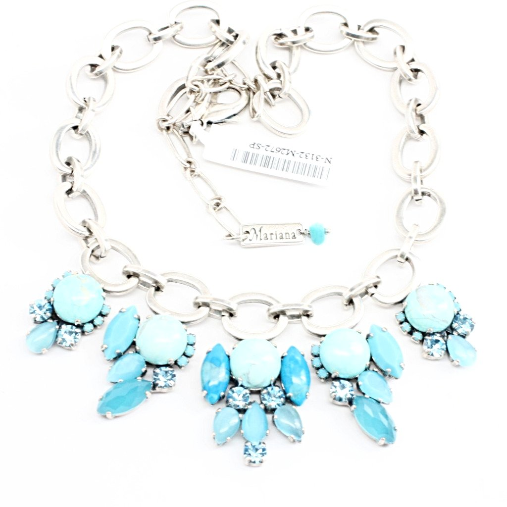 Bliss Turquoise and Silver Link Necklace