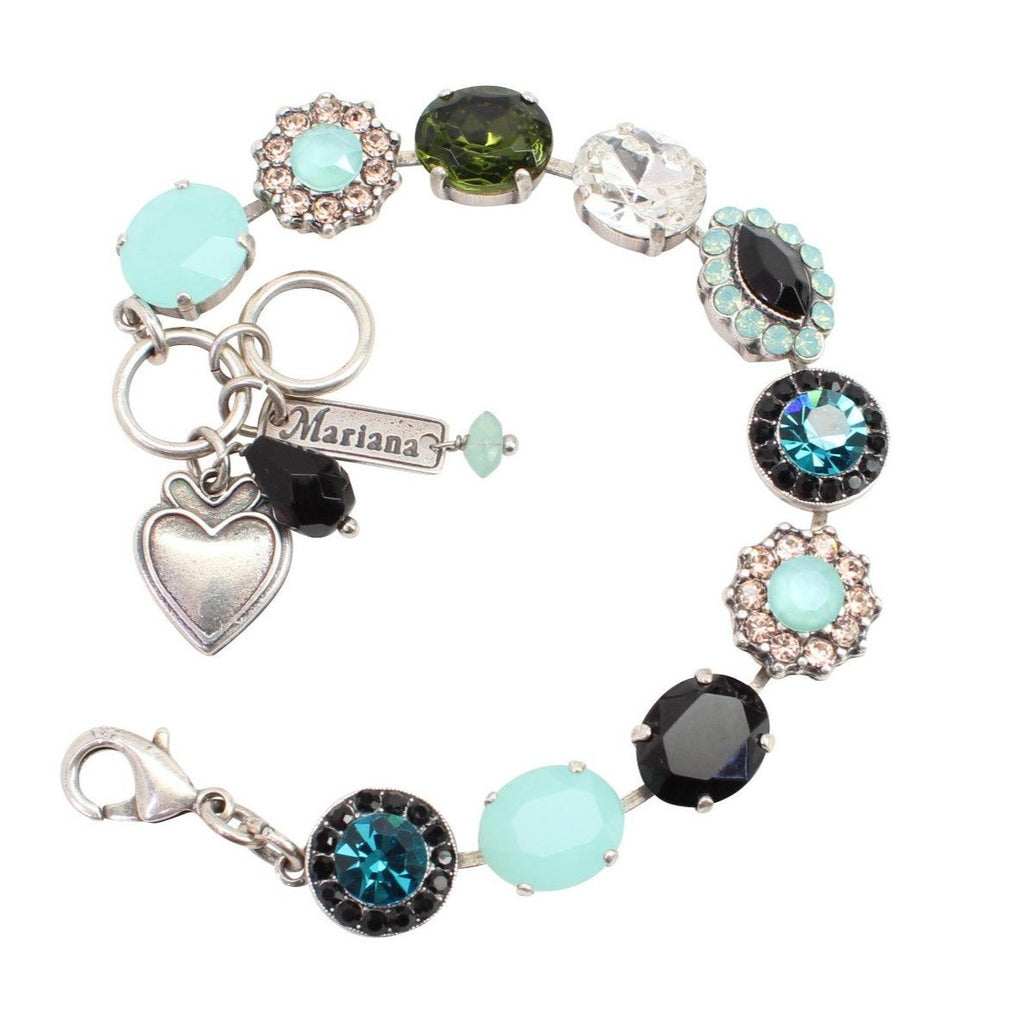 Cannoli Collection Large Oval and Round Crystal Bracelet