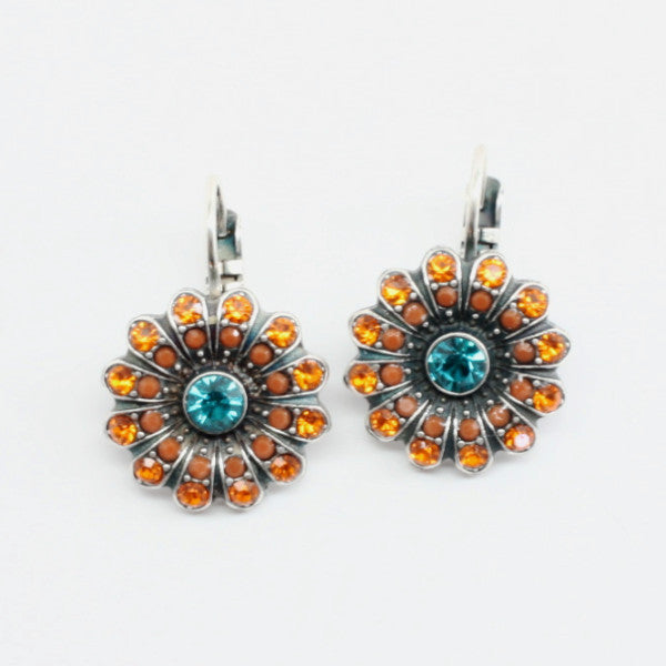 Masai Collection Crystal Flower Earrings