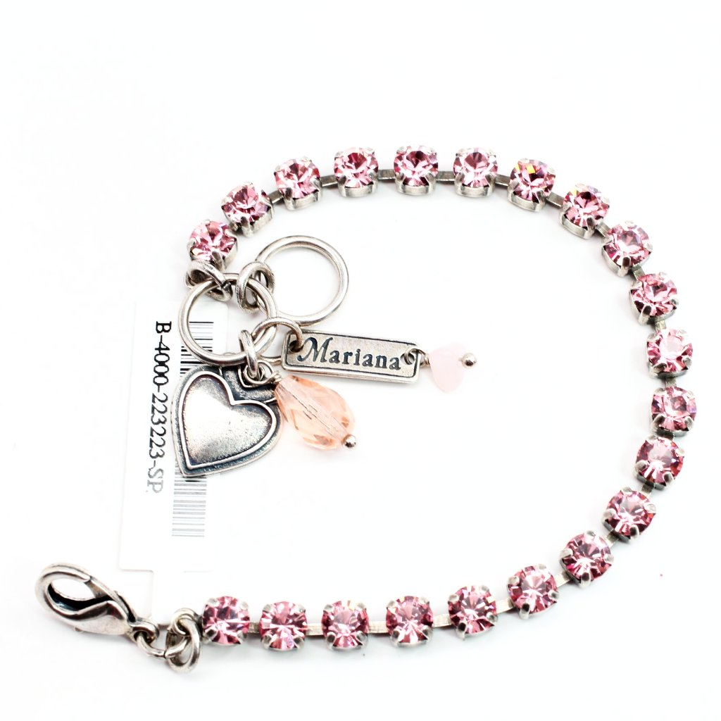Light Rose Petite Crystal Bracelet