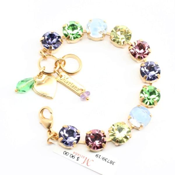 Flower Power Large Crystal Bracelet in Yellow Gold