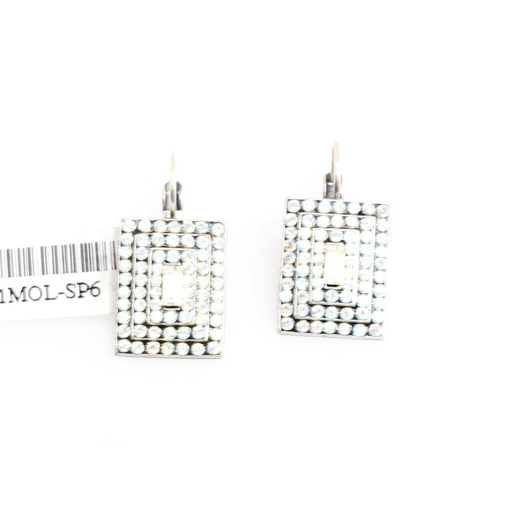 Moonlight Rectangular Multi Crystal Earrings