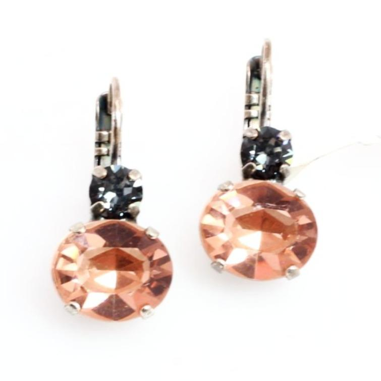 Luxury Collection Oval Double Crystal Earrings