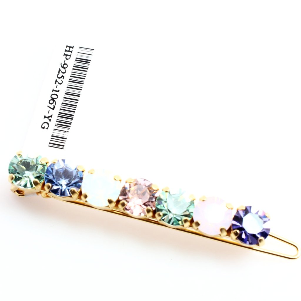 California Dreaming Crystal Barrette in Yellow Gold