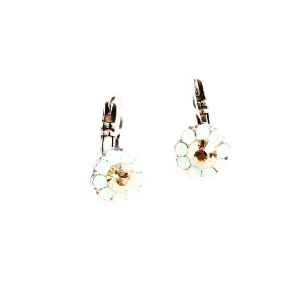Grace Small Crystal Flower Earrings
