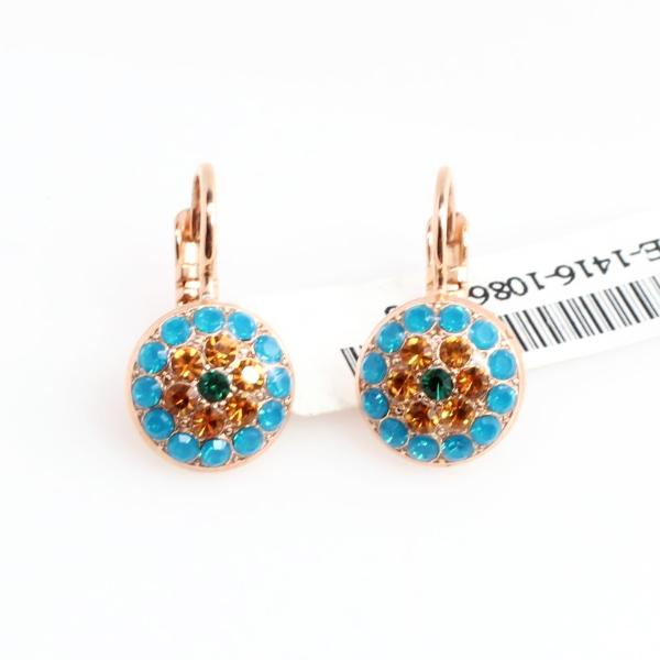 Selene Collection Small Crystal Earrings in Rose Gold