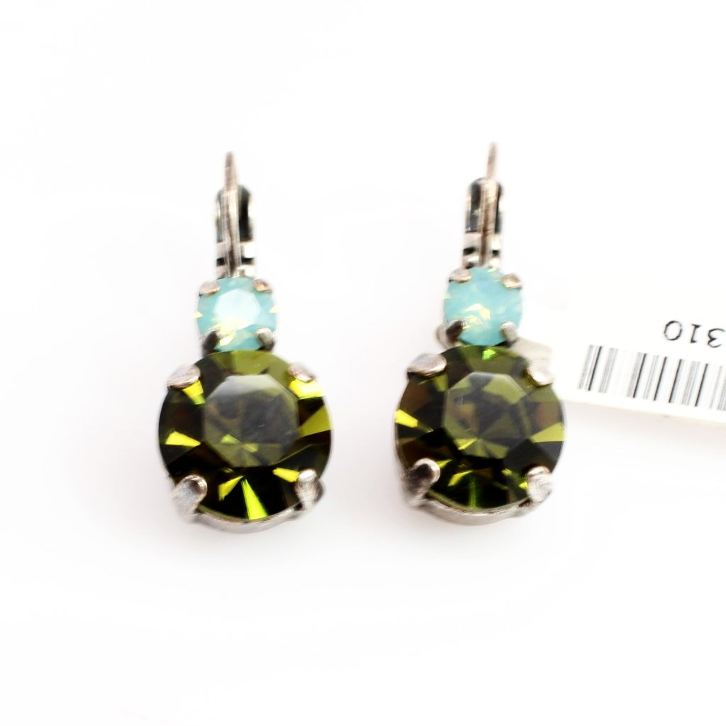 Angelica Large Double Crystal Earrings