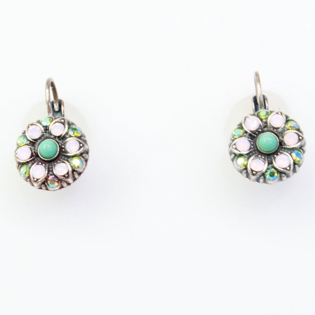 Summer Fun Collection Round Crystal Earrings