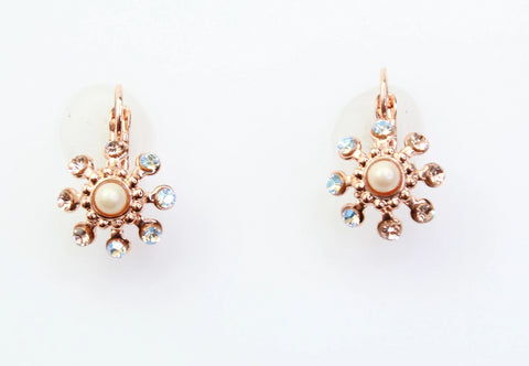 Barbados Collection Crystal Earrings in Rose Gold