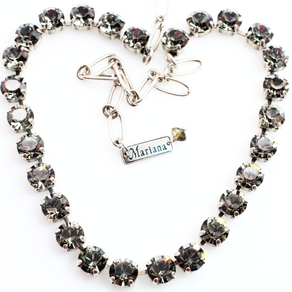 Black Diamond Medium Crystal Necklace
