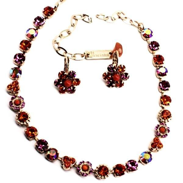 Lady Marmalade Small Crystal Necklace in Rose Gold