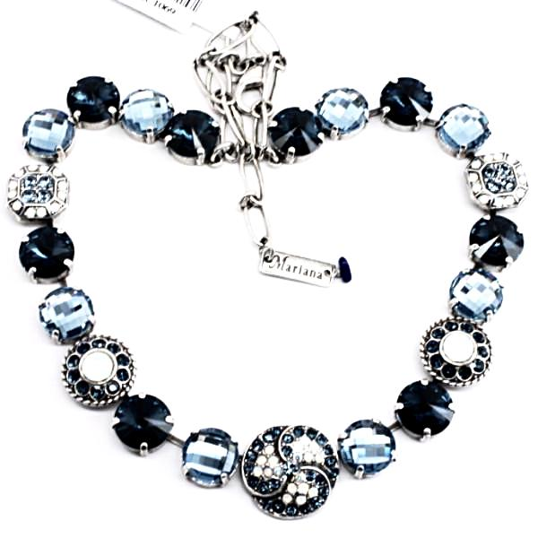 Mood Indigo Large Rivoli Crystal Necklace
