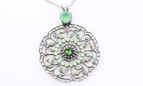 Fern Collection Round Filigree Necklace