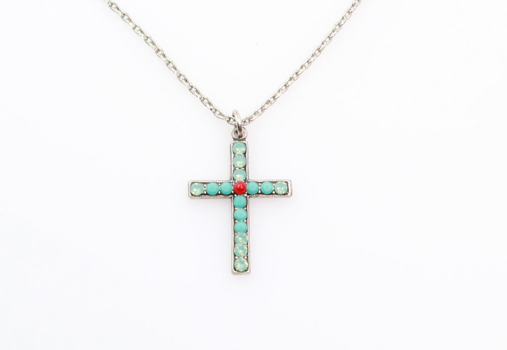 Jennifer Collection Petite Crystal Cross Necklace
