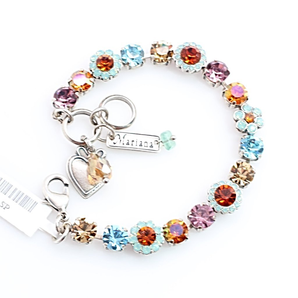 Friendship Collection Ornate Crystal Flower Bracelet