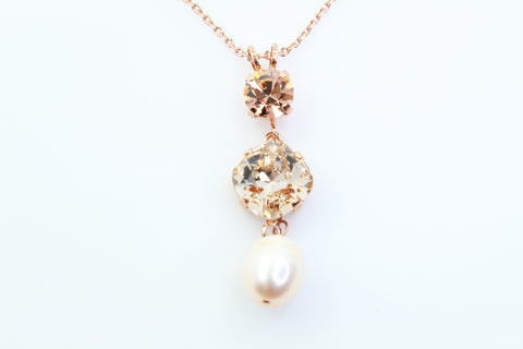 Barbados Pendant Necklace in Rose Gold