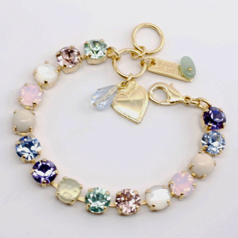 California Dreaming Medium Crystal Bracelet in Yellow Gold