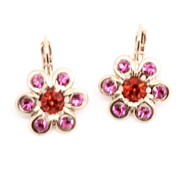 Lady Marmalade Collection Daisy Earrings in Rose Gold