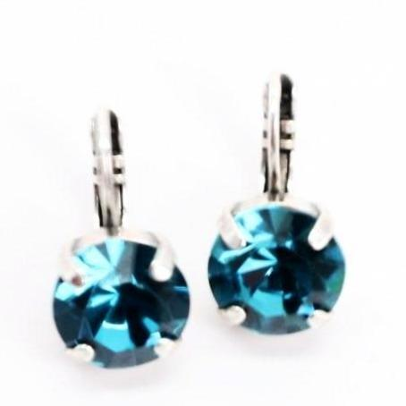 Indicolate (teal) 11MM Crystal Earrings
