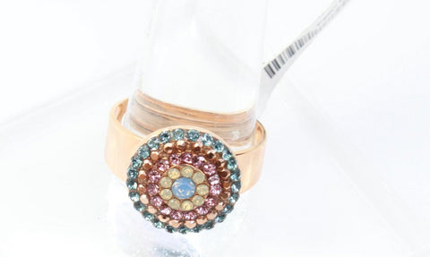 Rhapsode Round Crystal Ring in Rose Gold