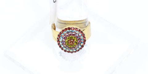 Penelope Collection Round Crystal Ring