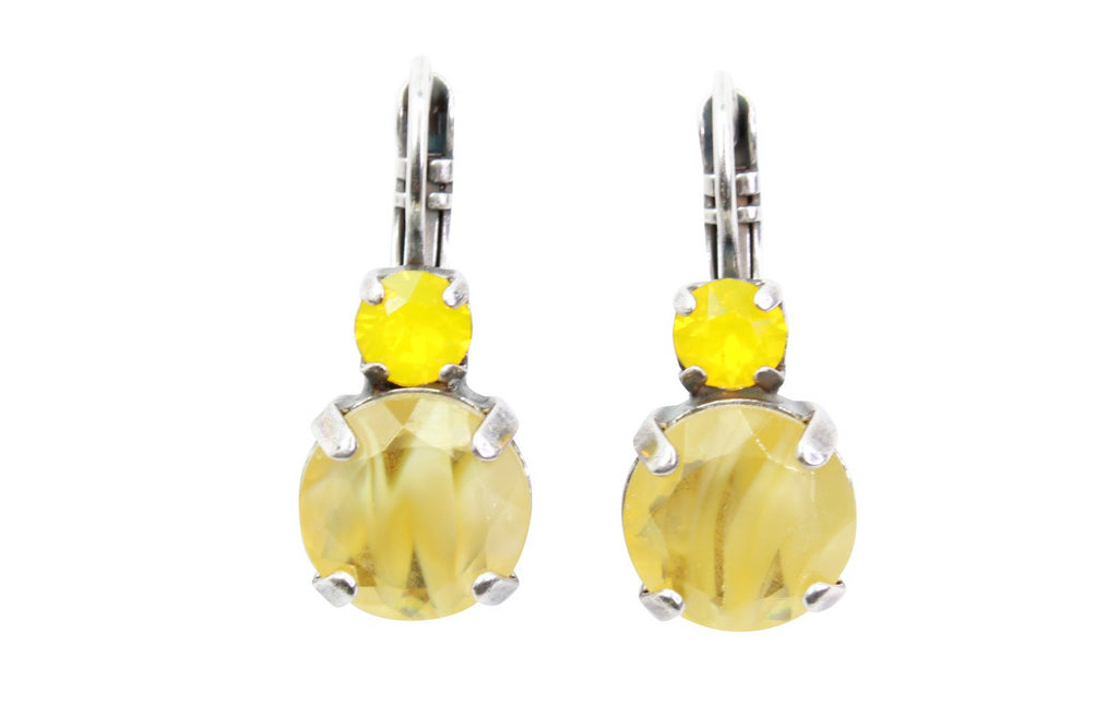 Lemonade Double Crystal Earrings