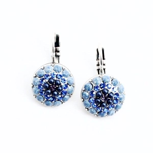 Electra Collection Multi Crystal Earrings