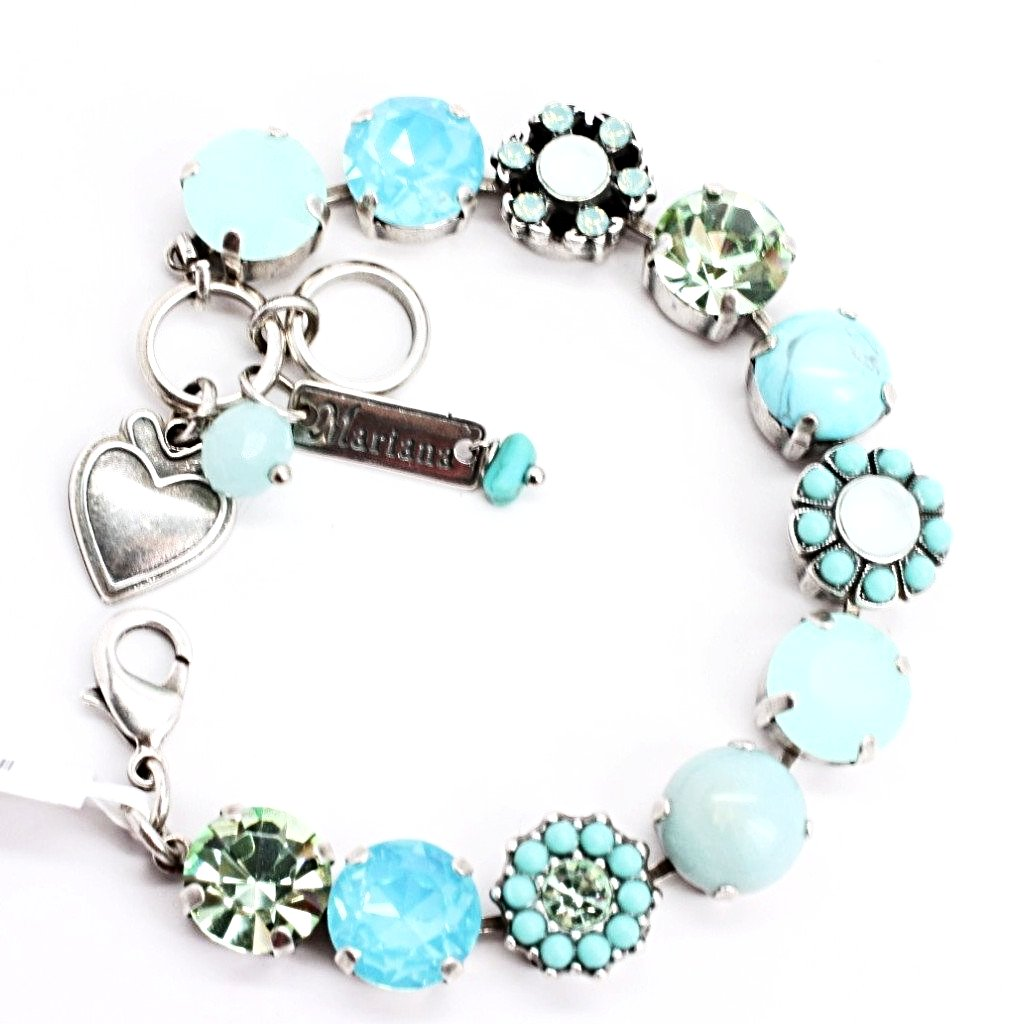 Athena Collection Large Turquoise and Chrysolite Crystal Bracelet