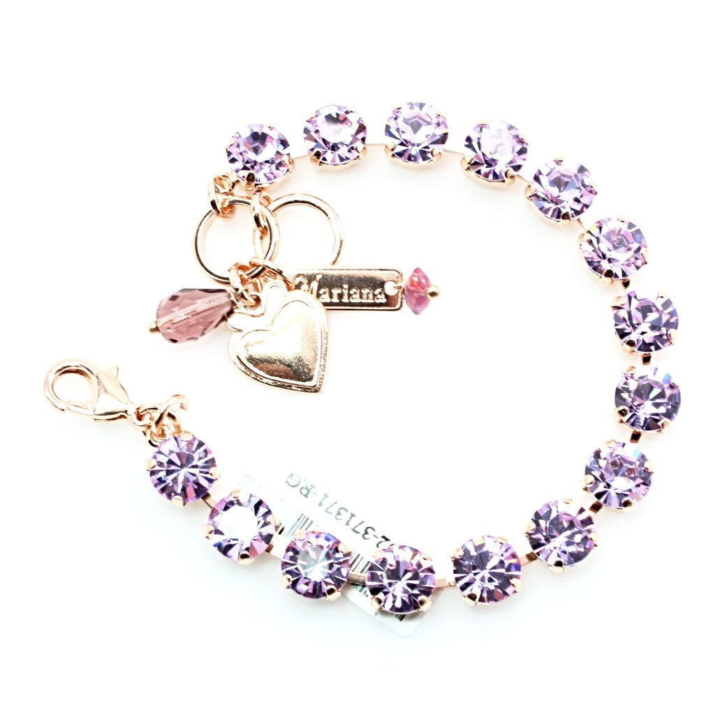 Violet Must Have Crystal Bracelet in Rose Gold