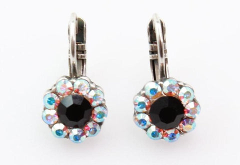 Blizzard Collection Small Crystal Flower Earrings