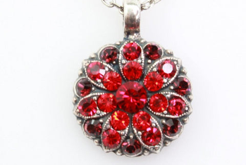 Lady in Red Guardian Angel Necklace