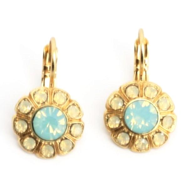 Serai Collection Crystal Earrings in Yellow Gold