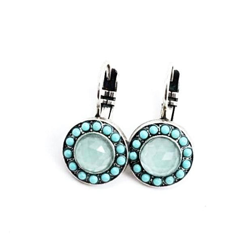 Athena Collection Round Crystal Earrings