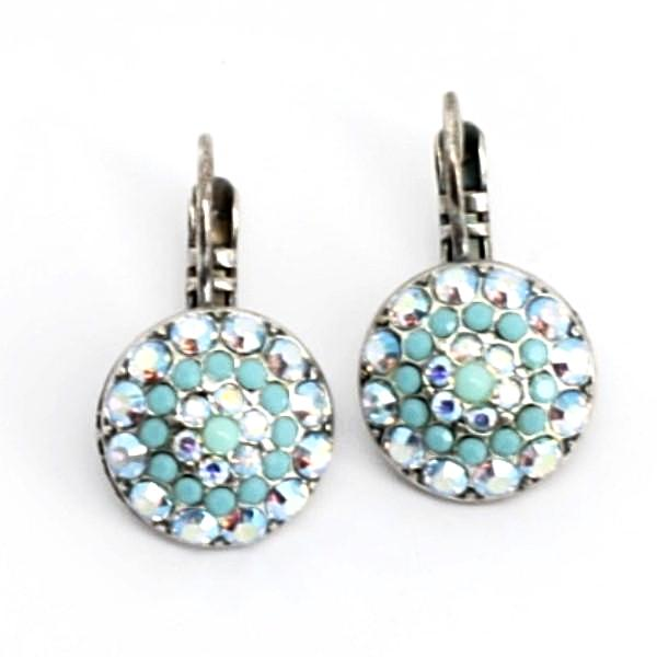 Cindy Collection Blue Multi Crystal Earrings
