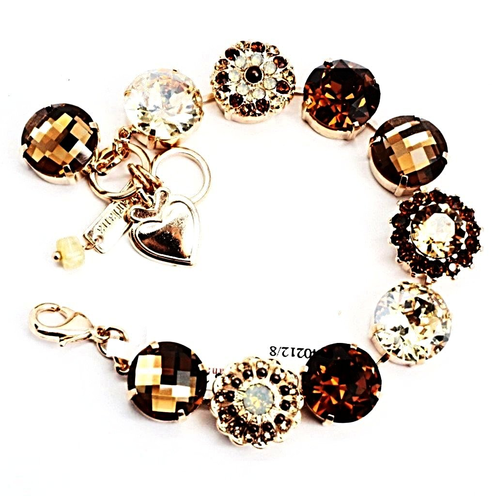 Aphrodite Ornate Extra Large Crystal Bracelet in Rose Gold