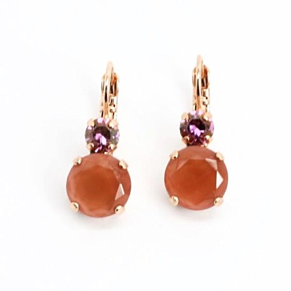 Cinnamon Collection Crystal Earrings in Rose Gold